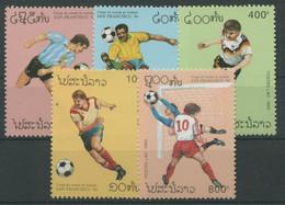 Laos 1993 Fußball-WM'94 USA 1384/88 Postfrisch - Laos