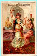 Belle Chromo Chocolat Guérin-Boutron. Les Danses. Danse Du Sabre, Maroc. Lith. Vieillemard - Guerin Boutron