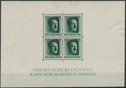 Deutsches Reich 1937 Geb. Hitler Block 7 Ungebraucht Ohne Gummierung (G19347) - Bloques