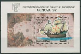Laos 1992 GENOVA Entdecker Schiffe Santa Maria Block 144 Postfrisch (C97906) - Laos