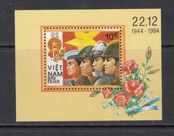 1985 Vietnam Vietnamese People's Army Military Revolution  Souvenir Sheet MNH - Vietnam