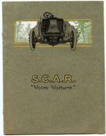 Sté Automobiles S.C.A.R. 12 H.P. Type Tour De France.Witry-les-Reims.Catalogue Automobile Belle Epoque. Circa 1900. - Auto