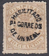 Philippines, Scott #119, Mint No Gum, Revenue Surcharged, Issued 1881 - Philipines