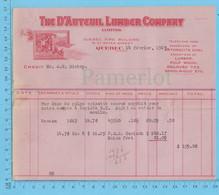The D'auteuil Lumber Co.Credit At: A.W. Bishop, Bois De Pulpe épinette Ecorcé $ 159.06 - Canada