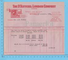 The D'auteuil Lumber Co.Credit At: A.W. Bishop, Bois De Pulpe épinette Ecorcé $ 533.78 - Canada
