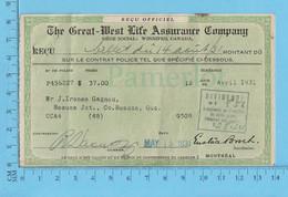 Great-West Life Assurance - Billet 1931, Dividende $8.56 - Canada