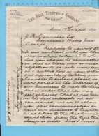 Bell Telephone Co. To J.R. Dennison, Complaint Difficulty Of Talking, Richmond Connection, 1890, Signed McFarlane - Historical Documents