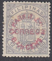 Philippines, Scott #125, Mint Hinged, Revenue Surcharged, Issued 1881 - Philipines