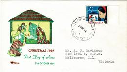 Australia 1964 Christmas Royal FDC - Omslagen Van Eerste Dagen (FDC)