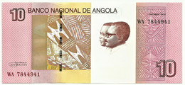 Angola - 10 Kwanzas - 10.2012 ( 2017 ) - Pick 151B - Unc - Série WA - José Eduardo Dos Santos E Agostinho Neto - Angola