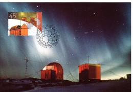 """"""" AURORES BOREALES  A.A.T. """" Sur Carte Maximum Et PAP Neuf Du Territoire Antarctique Australien De 2002 Parf état CM - Tarjetas – Máxima"""