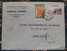 Saigon Indochine Pour Paris ( Le 13 06 1948)  France - Covers & Documents