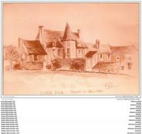 37 LIGRE. Manoir De Beauvais. Reproduction En Photo 1980 D'après Dessin De Desaint Pour Un Sénateur - Other Municipalities