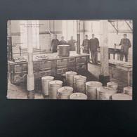 Mons Caserne Guillaume  Cuisine De La Troupe +cachet Poste 1920-1921 (bonjour D'un Prisonnier De Mons) - Mons