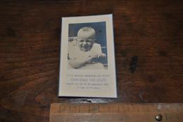 Image Pieuse Faire Part De Décès Pierre-Albert VAN GULCK Enfant Rappelé Au Ciel à 13 Mois En 1949 - Bébé Nourrisson - Avvisi Di Necrologio