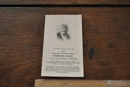 Image Pieuse Faire Part De Décès Louise D'UDEKEM D'ACOZ Bellem 1864 Gand 1966 Veuve Comte PIGAULT DE BEAUPRE RARE - Avvisi Di Necrologio