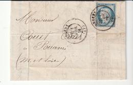 Lettre Avec Classiques De France: Cérès N°60, Angers, 1er Avril 1876, 1er Jour Du Cachet à Date - 1871-1875 Ceres