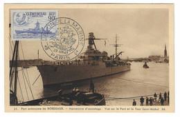 45 SM - SALON DE LA MARINE 1943 - PORT AUTONOME DE BORDEAUX  - Cachet à Date 29 Juin 1945 - Posta Marittima