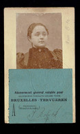 Carte D'abonnement Personnalisée Entrée De L'Exposition Internationale De 1897 - Biglietti D'ingresso