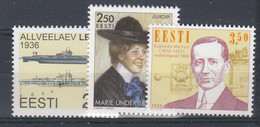 ++Estonia 1996. 3 Items. Michel 273, 279-80. MNH(**) - Estland