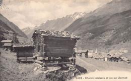 Chalets Valaisans Et Vue Sur Zermatt Mazots - VS Valais
