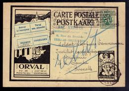 CP 5 Orval Ixelles ??01/29  =>Bruxelles Etiquettes Inconnu Et Retour à L'Envoyeur Manuscrit Rebut Cachet De L'expéditeur - Cartoline Illustrate