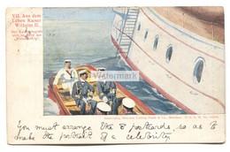 """Aus Dem Leben Kaiser Wilhelm II - Der Kaiser Begiebt Sich An Bord Der """"Weissenburg"""" - 1901 Used Postcard - Case Reali"""