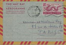 VIETNAM - SAIGON RP - AEROGRAMME POUR LA FRANCE DU 15-7-1955. - Vietnam