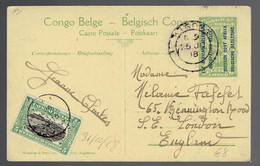 CP 11 Kigoma 25 JU 18 + 64 Congo Belge ???? 31/10 18 => London - Interi Postali