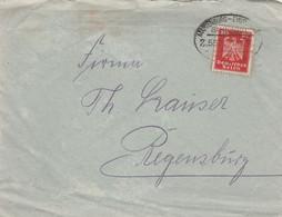 Deutsches Reich Brief Mit Bahnpost Marienburg - Eydtkuhnen  LK Stallupönen Zug 552 1926 Westpreuseen Nach Ostpreussen - Briefe U. Dokumente
