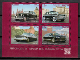 Russia 2020 Rusia / Vintage Old Cars MNH Coches Antiguos Auto Automobiles / Hq97  4-24 - Cars