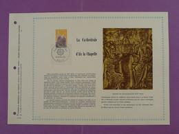 Feuillet FDC PAC Cathedrale D'Aix La Chapelle Chasse De Charlemagne Medieval 1972-10 - Eglises Et Cathédrales