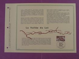 Feuillet FDC PAC Vallée Du Lot Decazeville 12 Aveyron 1974-22 - Lettres & Documents