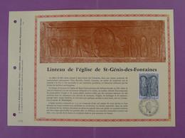 Feuillet FDC PAC Art Medieval Linteau St Genis Des Fontaines 66 Pyrénées Orientales 1976-3 - Lettres & Documents