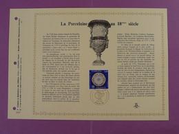 Feuillet FDC PAC Porcelaine Du 18eme Siecle Europa 1976-12 - Porcelain
