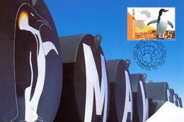 """✅ """" MAWSON STATION PINGUOIN A.A.T. """" Sur Carte Maximum Et PAP Neuf Du Territoire Antarctique Australien De 2002 CM - Tarjetas – Máxima"""