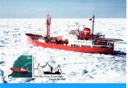 """"""" LE MAGGA DAN / A.A.T. """" Sur Carte Maximum Et PAP Neuf Du Territoire Antarctique Australien De 2002 Parf état CM - Tarjetas – Máxima"""