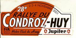Autocollant De Rallye Du 28e Condroz - HUY En 2001 - Adesivi