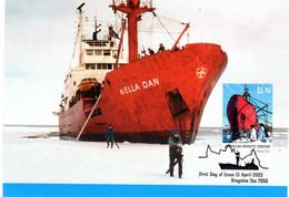 """"""" LE NELLA DAN / A.A.T. """" Sur Carte Maximum Et PAP Neuf Du Territoire Antarctique Australien De 2002 Parf état CM - Tarjetas – Máxima"""