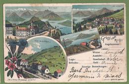 "CPA Dos Précurseur Multivues - SUISSE - ""GRUSS VOM RIGI"" - Lith. & Verlag V. Hch Slumpf-Winterthur - SZ Schwyz"