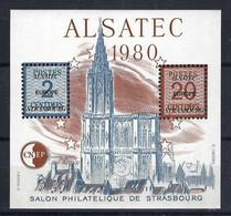 """FRANCE 1980:  """"ALSATEC"""", Feuillet-souvenir De La CNEP - Sonstige"""