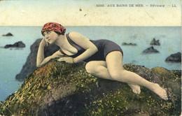 AUX BAINS DE MER  REVERIE  Belle Baigneuse Colorisée RV - Altri