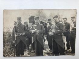Foto Ak Souvenir Du 115 Regiment Infanterie Territoriale 1912 Cheval Sac - Regiments