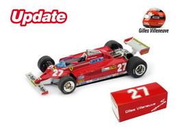 Ferrari 126CK Turbo - Gilles Villeneuve - 1st GP FI Monaco 1981 #27 - Brumm - Brumm