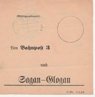 Deutsches Reich Ortsbund Von Bahnpost 3 Nach Sagan Glogau Mit Bahnpoststempel Berlin Hamburg Zug 1 1925 - Briefe U. Dokumente