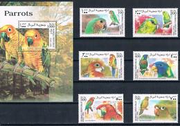 Bloc Sheet + Serie Set  Oiseaux Perroquets  Birds Parrots  Neuf  MNH **   Somalie Somalia 1999 - Parrots