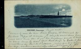 CP ( Nieuport, Panorama) Obl. NIEUPORT - BAINS  08/07/1899 - Posta Rurale