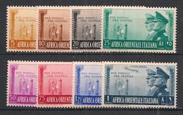 Africa Orientale Italiana - 1941 - N°Yv. 36 à 42 + PA 21 - Neuf Luxe ** / MNH / Postfrisch - Italiaans Oost-Afrika