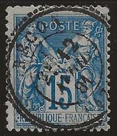 Bécon (Maine-et-Loire) : Timbre à Date Type 24  Sur Sage N°90, 1881. - 1877-1920: Periodo Semi Moderne