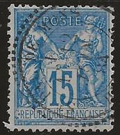 St-Pal-de-Mons (Hte-Loire) : Timbre à Date Type 25  Sur Sage N°90, 1884. - 1877-1920: Periodo Semi Moderne